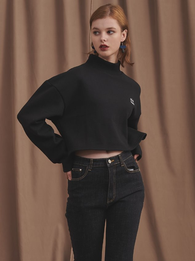 19 SWEAT CROP TS [BLACK]