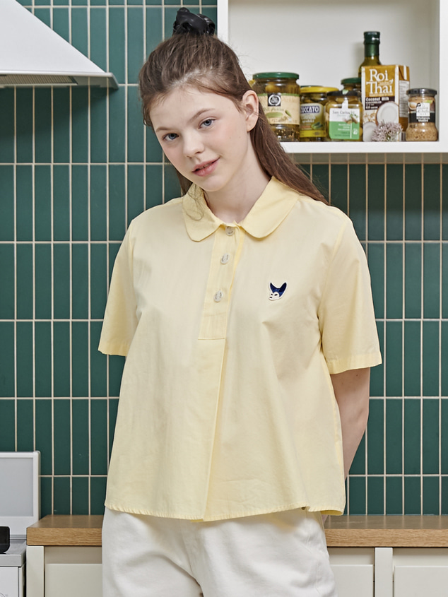 SIGNATURE PURE BLOUSE [LIGHT YELLOW]