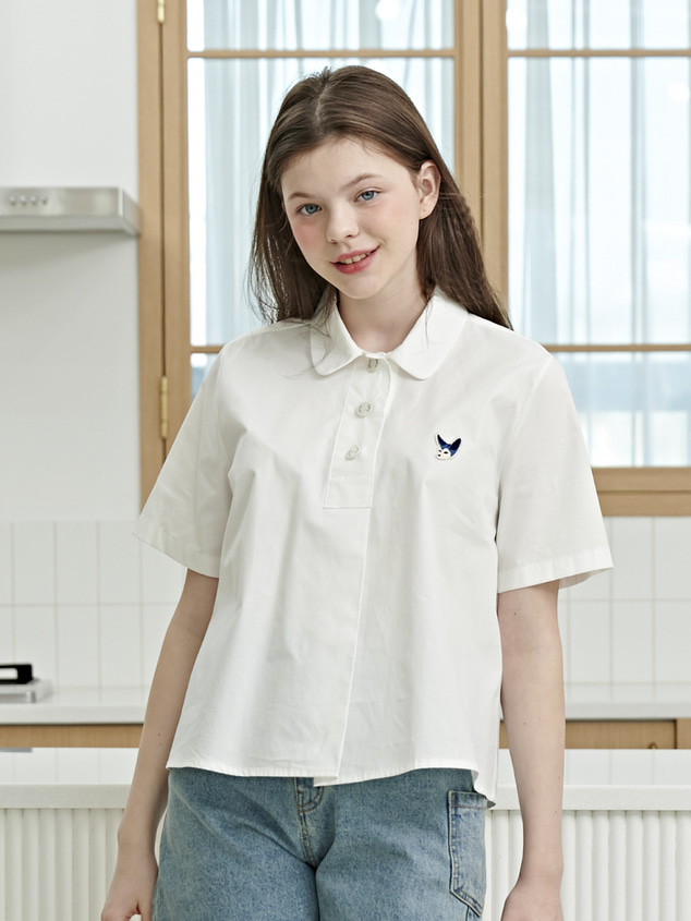SIGNATURE PURE BLOUSE [WHITE]
